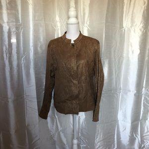 NWT Stunning Chico's Bronze jacquard jacket   3